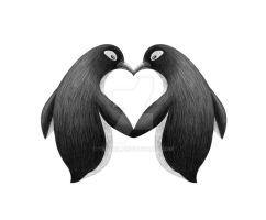Penguin love by Tenrex