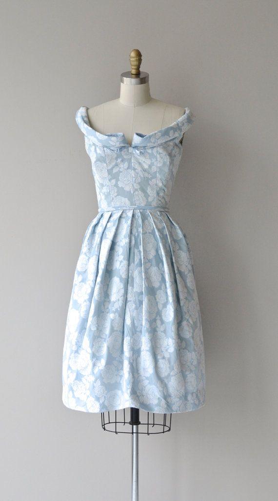 Harvey Berin dress vintage 1950s dress damask by DearGolden