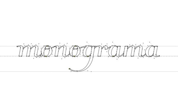 Últimos retoques del logo en Fontlab Finishing touches of our logo in Fontlab #fontlab #type #lettering #design
