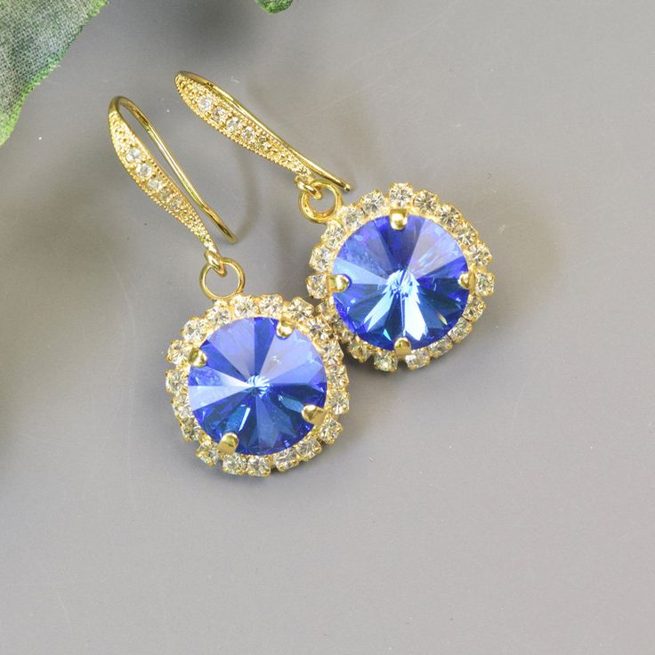 jewelry earrings alloy elegant shine crystal earring bright brand blue fashion plated product products water rhinestone long gold austria image statement drop