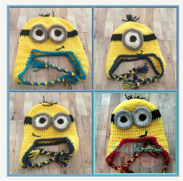Hats ordered off Etsy for the boys Halloween Minion costumes
