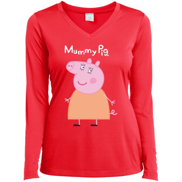 Mummy Pig Long Sleeve V-neck T-Shirt - customshirts.xyz peppa pig peppa pig games peppa pig toys peppa pig characters peppa pig costume peppa pig house peppa pig george peppa pig birthday peppa pig party supplies peppa pig clothes peppa pig party peppa pig party ideas peppa pig shoes peppa pig birthday party peppa pig family peppa pig pictures peppa pig dress peppa pig bag peppa pig shirt