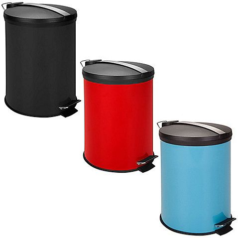 Honey-Can-Do 12-Liter Step Trash Can -- With a fingerprint resistant exterior, the Honey-Can-Do 12 Liter Step Trash Can complements any room - from offices to dorm rooms and more. A metal foot pedal opens the lid for hands-free use, while a plastic bucket inside removes for easy trash disposal.