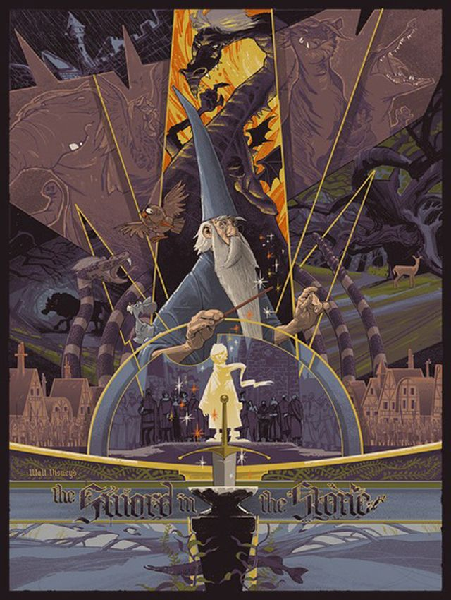 Reinvented Disney Posters by Mondo - The Sword in the Stone