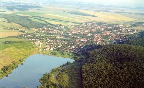 Bogács madártávlatból (Hungary)