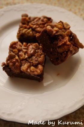 「さくほろっ♪とろけるブラウニー」くるみ   お菓子・パンのレシピや作り方【corecle*コレクル】