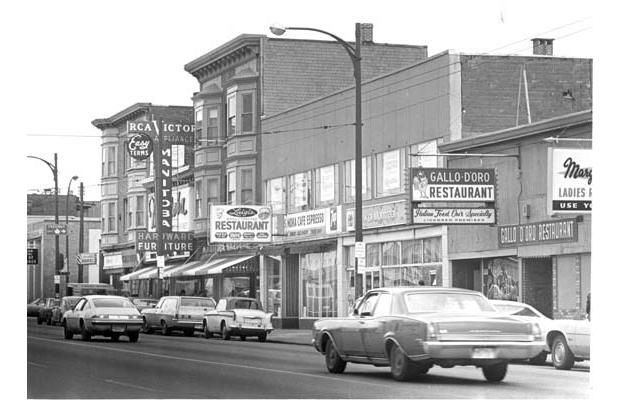 Commercial Drive as it appeared in 1976.