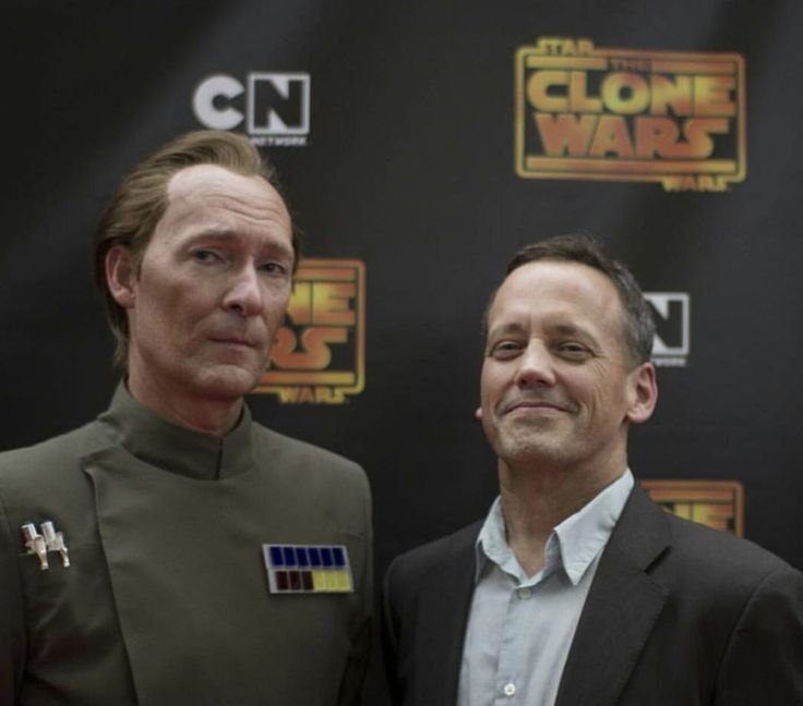 Stephen Stanton (Voice of Tarkin in CW and Rebels) and Bradley Dee Baker (Voice of Captain Rex and Clone Troopers)