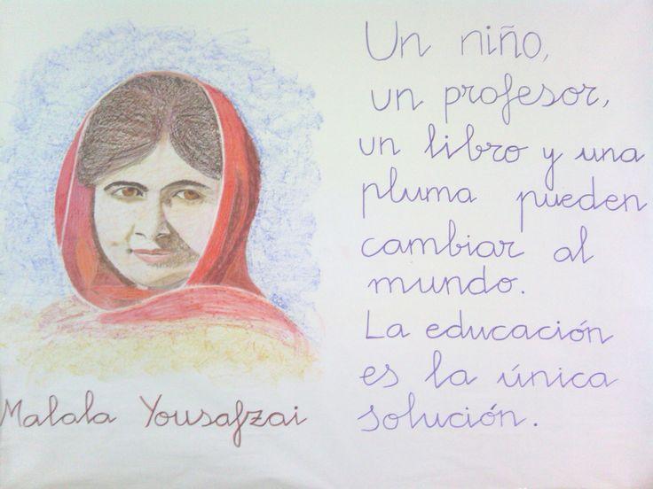 Mural elaborado por nuestra Logopeda. Día de la Paz 2015.