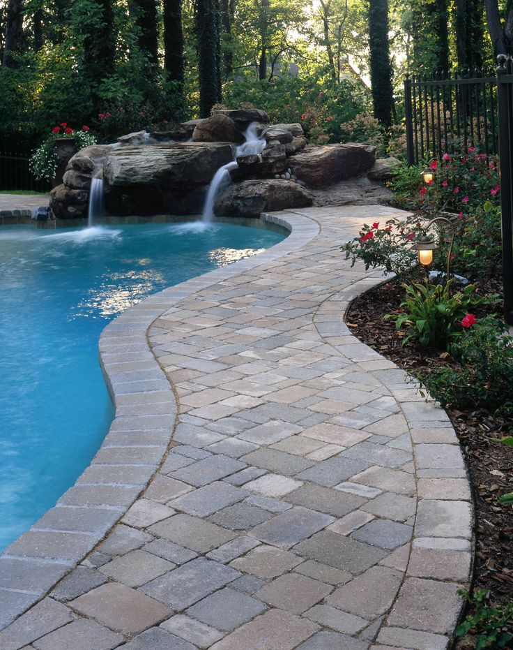 Natural Stone Pool Deck Brilliant 33 Best Pool Deck Images On Pinterest  Pool Decks Swimming Pool