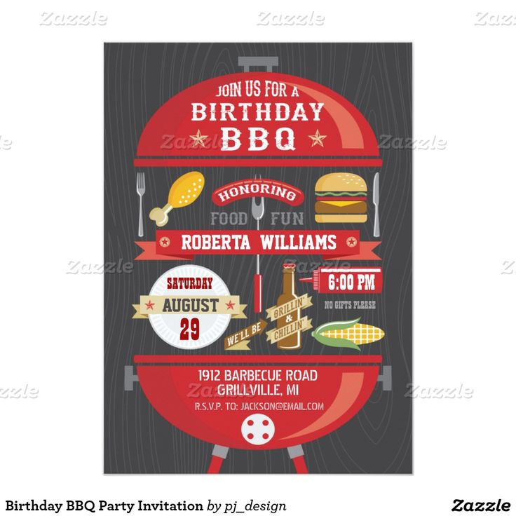 Shop Retirement BBQ Party Invitation created by pj_design.