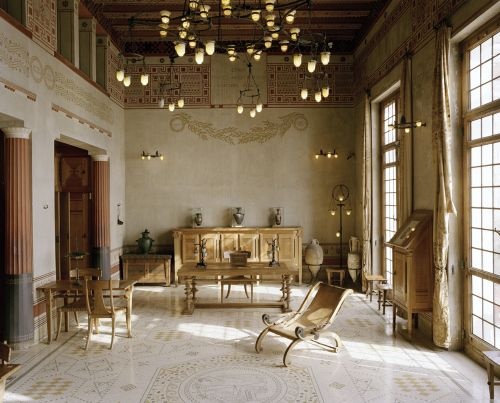 villa grecque k rylos palais antique de la c te d 39 azur beaulieu sur mer de ign pinterest. Black Bedroom Furniture Sets. Home Design Ideas