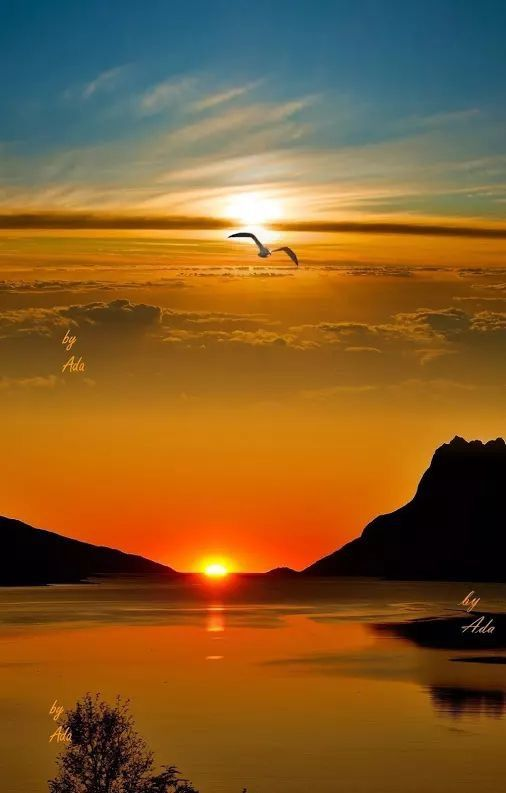 Sunset over Italy!