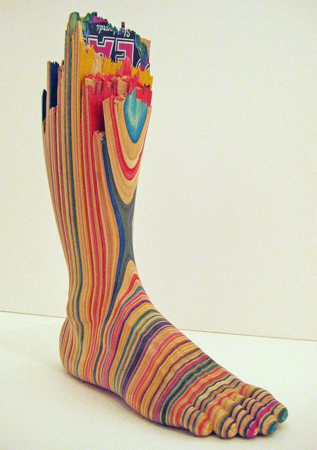 From Jonathan LeVine Projects, Haroshi, Screaming Foot Used skateboards,    25 cm