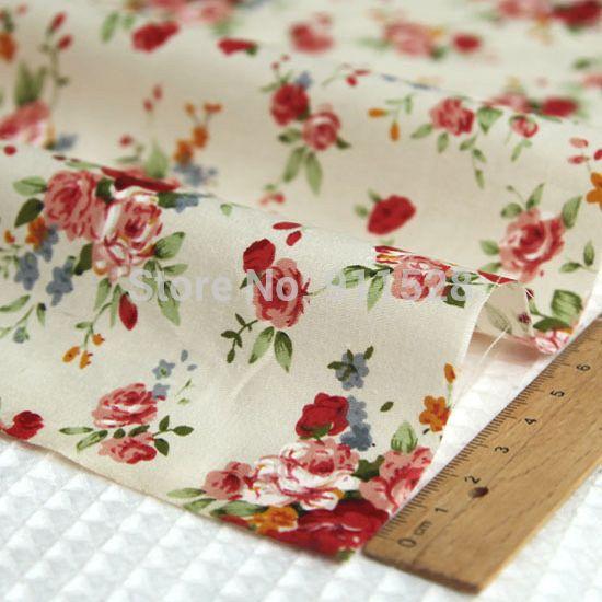 Красные розы пионы отпечатано 100% хлопчатобумажная ткань для детей постельные принадлежности подушки чехол, саржа ткань для шитья лоскутное на дворе метр