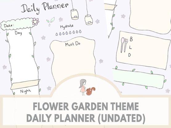 Flower Garden Theme Daily Planner (Undated) | www.sweetestchelle.com