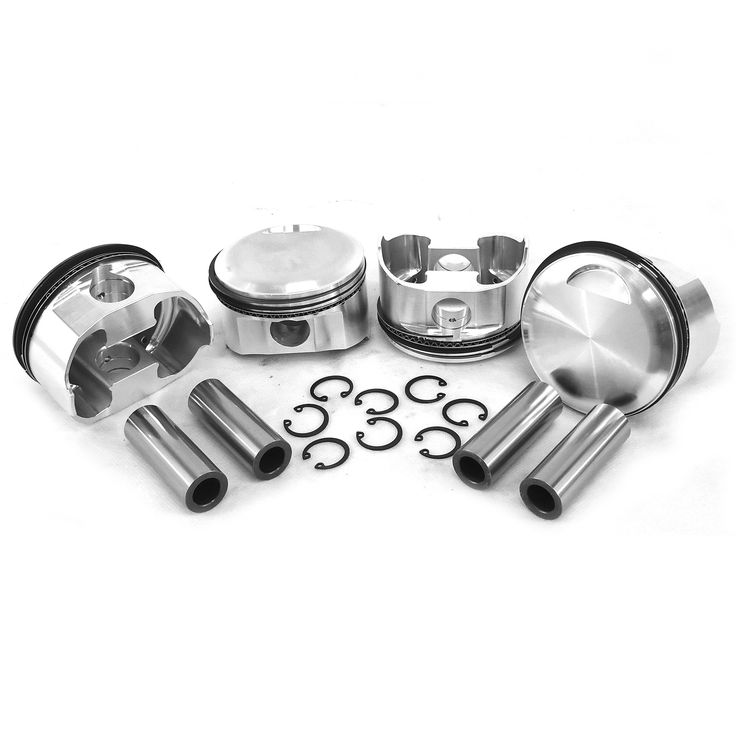 "82.5mm Porsche 356C/912 Big Bore JE Forged Pistons """"High Comp"""""