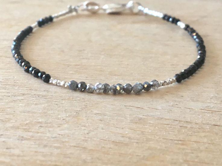A personal favourite from my Etsy shop https://www.etsy.com/no-en/listing/587577124/labradorite-black-spinel-bracelet