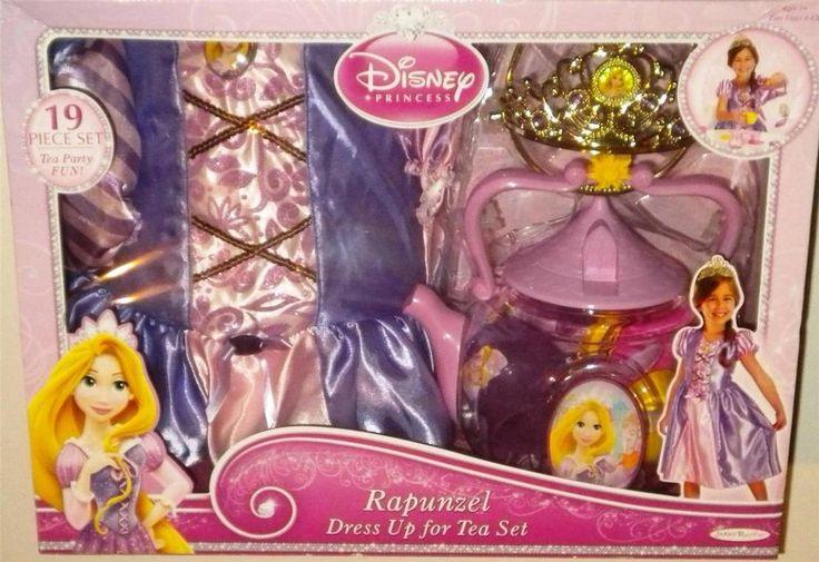 Disney Princess Rapunzel Tangled Dress Up Tea Party Size 4-6X Pot Cups NEW #Disney