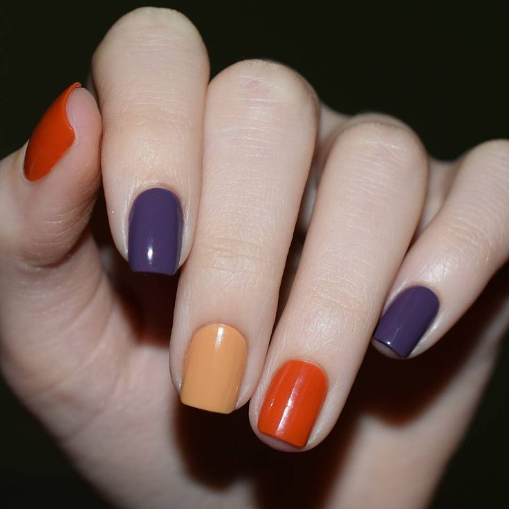 12 Must Have Matte Nail Designs For Fall 8 Multi Color Matte Matte Nails Design Matte Nails Multicolored Nails