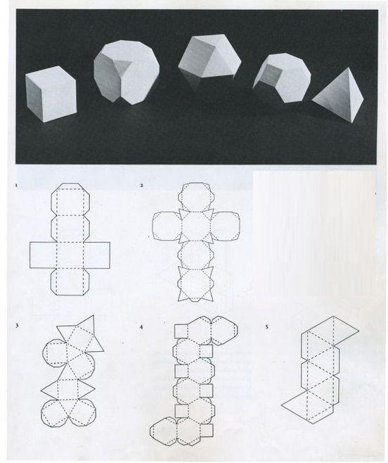 Объемные фигуры своими руками схемы шаблоны 893
