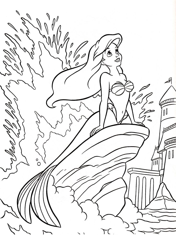 best 25+ ariel color ideas on pinterest | disney coloring pages ... - Full Size Coloring Pages Kids