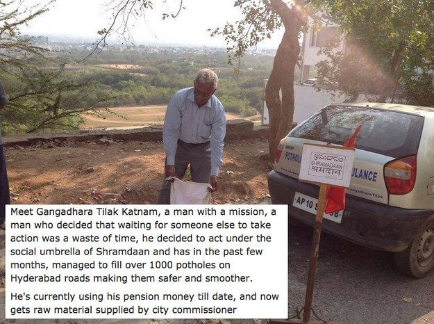 This pensioner, selflessly and quietly making the world a better place. | 18 Photos The World Needs To See To Understand How Beautiful India Really Is