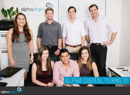 Our Alpha Digital team celebrating our 2nd birthday.