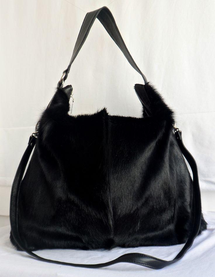 #jennifermiddletonbags Black Odette Springbok bag
