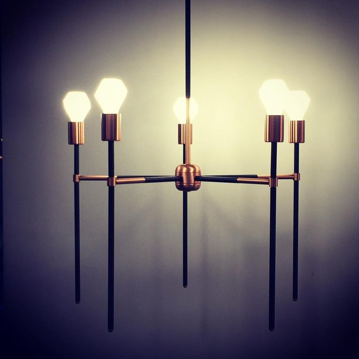 Kelly.5 Chandelier in Satin Copper and Black