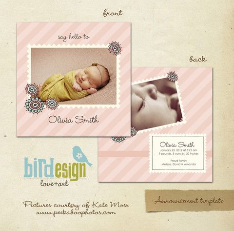14 best Announcement templates images on Pinterest Birth - announcement template