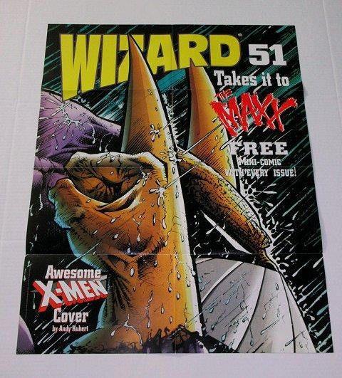 1995 The Maxx poster! Rare vintage original 1990's Wizard 25 by 19 Image Comics promotional The Maxx promo poster: Sam Kieth art/MTV tv hero