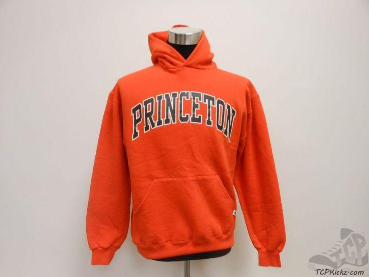 Russell Athletic Princeton Tigers Hoody Sweatshirt sz L Large Ivy University vtg #RussellAthletic #PrincetonTigers #tcpkickz