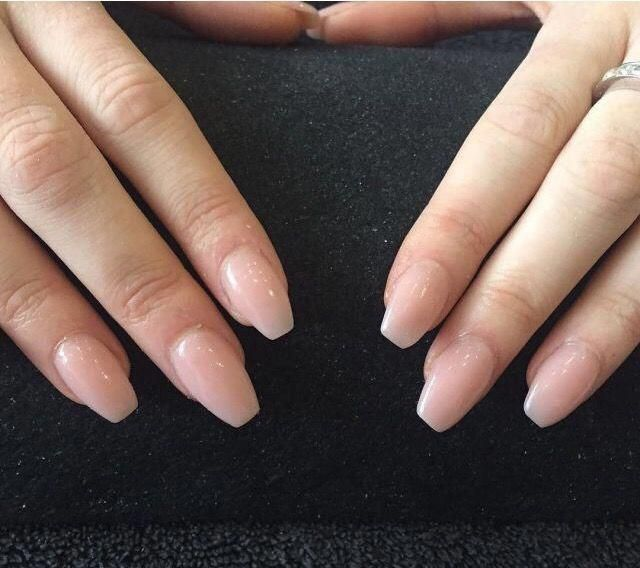 Different Nail Shapes On One Hand Shortnailshapes Coffin Shape Nails Short Coffin Nails Ballerina Nails