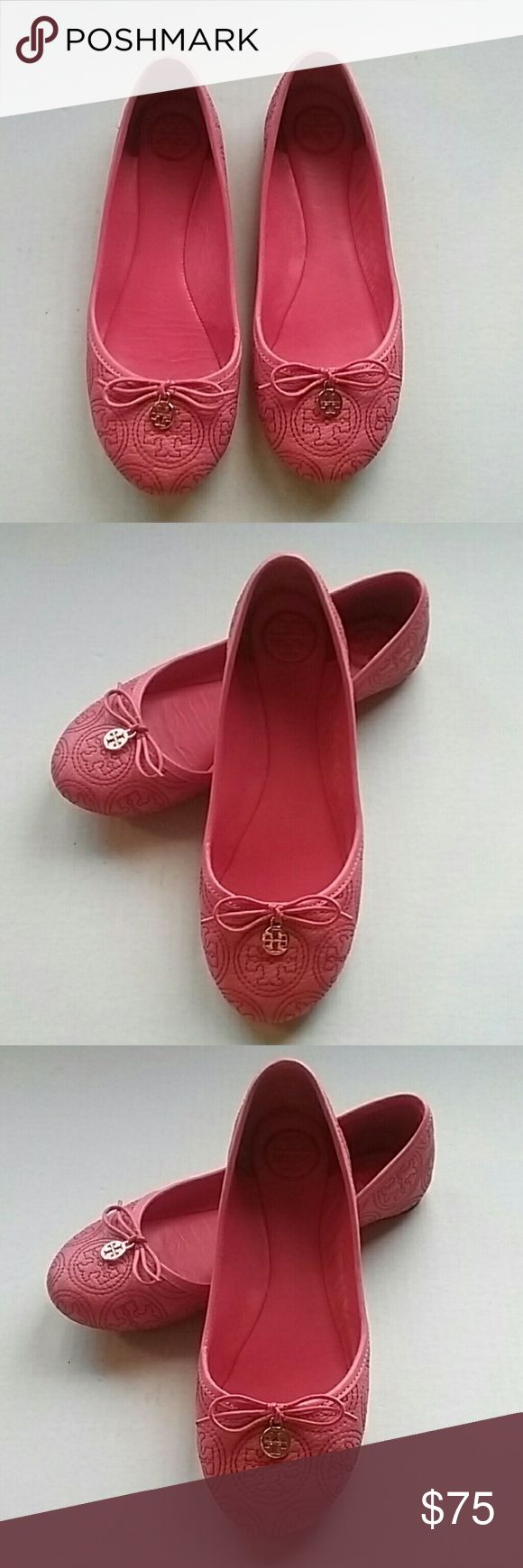 TORI BURCH PINK LEATHER FLATS LOAFERS SHOES 8.5 This is a very nicr gently preowned pink leather emblem shoes loafers. Size 7.5. They have been cleaned and sanitized for you. There is some wear as they are preowned but there os lots of wear left in these shoes. tori burch Shoes Flats & Loafers