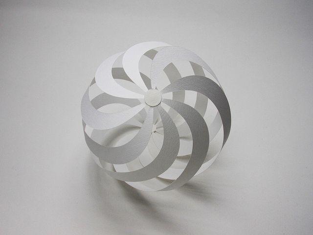 spiral sphere by jun mitani  via flickr