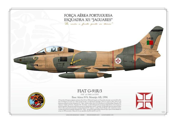 """PORTUGUESE AIR FORCE . Força Aérea PortuguesaEsquadra 301 """"Jaguares"""".Base Aérea N°6. Montijo AB. 1994"""