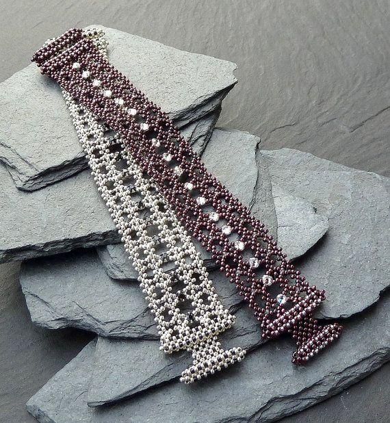 RAWmantic Lace beaded bracelet/ PDF file by mariposa8000 on Etsy, $12.00