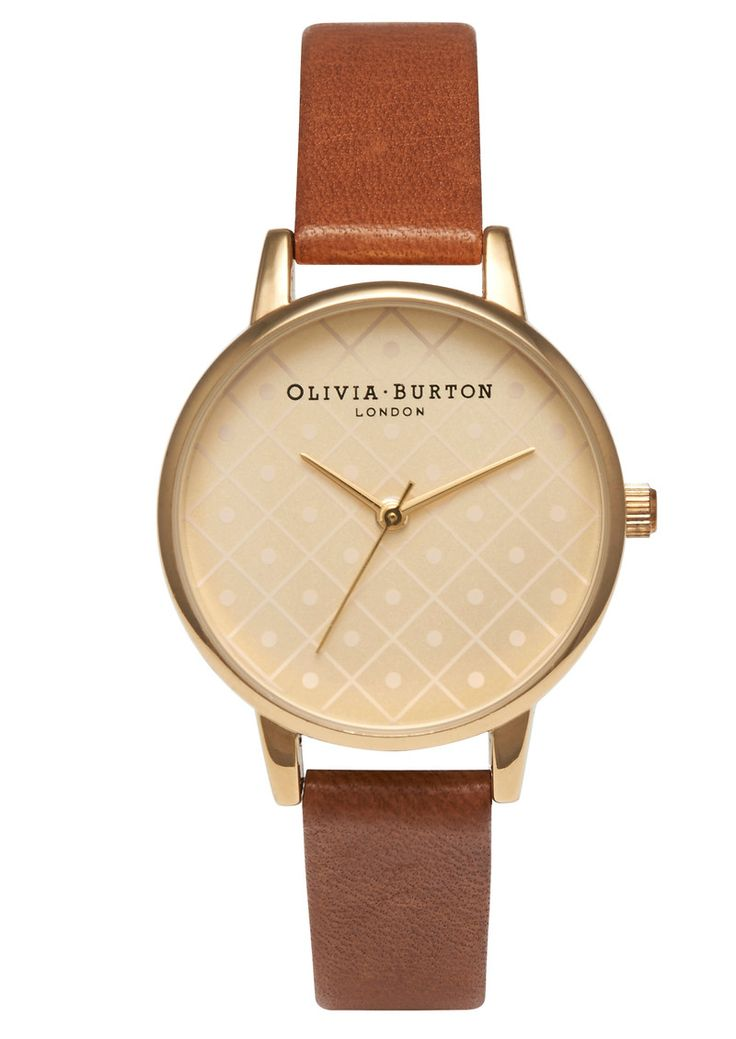 Olivia Burton Modern Vintage Watch - Gold & Tan in To-Be-Confirmed