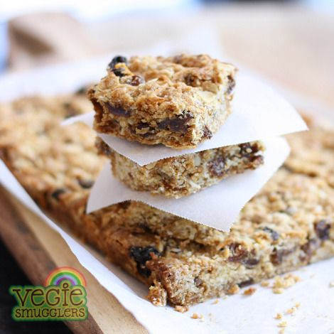 Get them excited about their lunchbox! coconut, sultana & lemon slice.