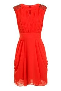 Little Mistress Orange Ladies Dress