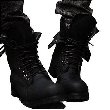 Zapatos de Hombre Botas Casual Semicuero Negro / Marrón 2016 – $34.99