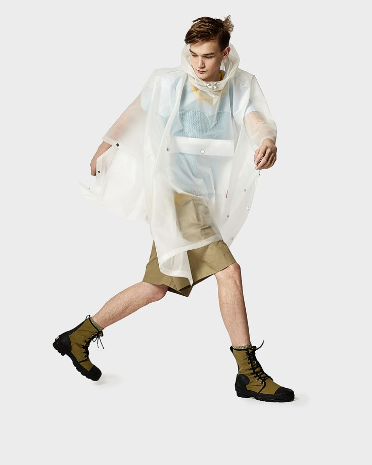 Hunter White Clear Poncho | Official Hunter Boots Site