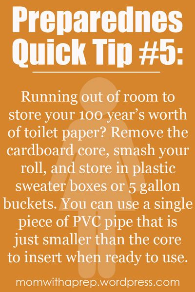 Preparedness Quick Tip #5: Store Toilet Paper Easily in Boxes | {Mom with a Prep} #prepare