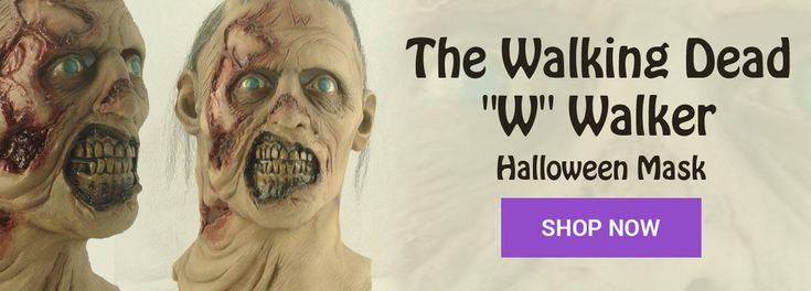W Walker Latex Halloween Mask #twd #halloweenmasks #metalheadthreads #horror #thewalkingdead #latexmaska