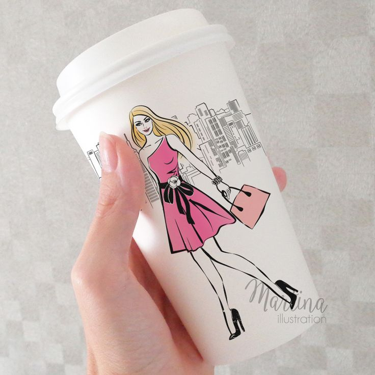 illustrated coffee cup