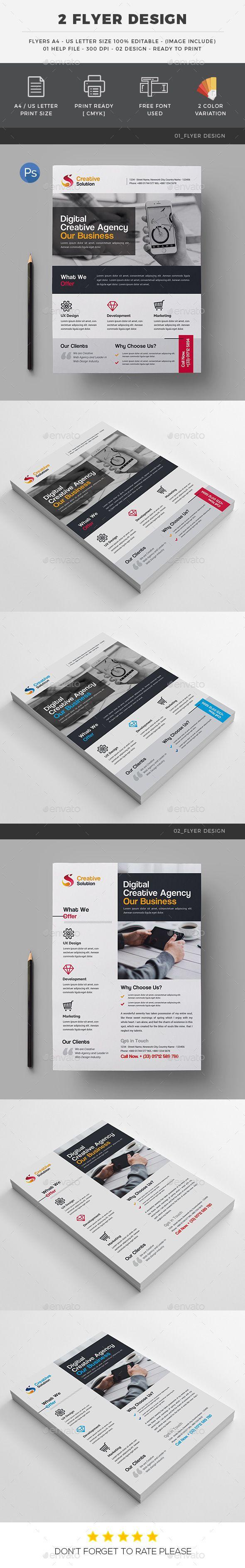 #Corporate #Flyer #Design - Corporate Flyers Download here:  https://graphicriver.net/item/corporate-flyer-design/19532896?ref=alena994