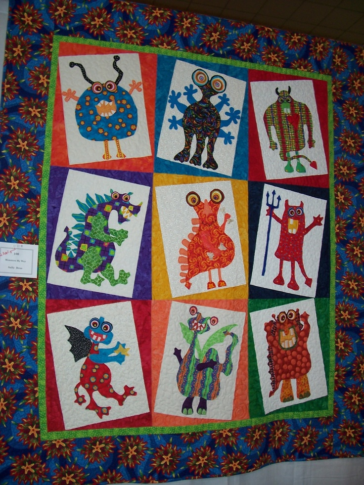 18 Best Monster Quilts Images On Pinterest Baby Quilts Kid Quilts