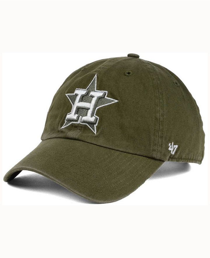 d8f366b2ab8a35 Houston Astros Olive White CLEAN UP Cap   Products   Astros hat ...
