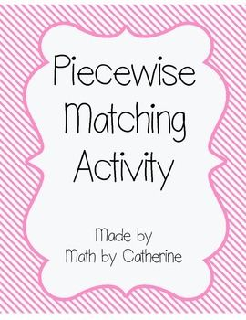 Printables Evaluating Piecewise Functions Worksheet 1000 images about math piecewise functions on pinterest this product includes a set of cards with it